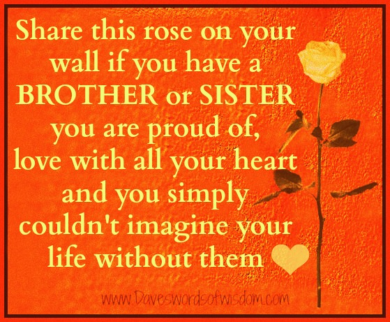 Show Your Love For Your Brother ...