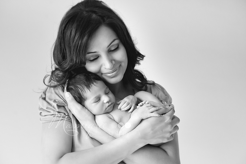 mom and baby infant portrait