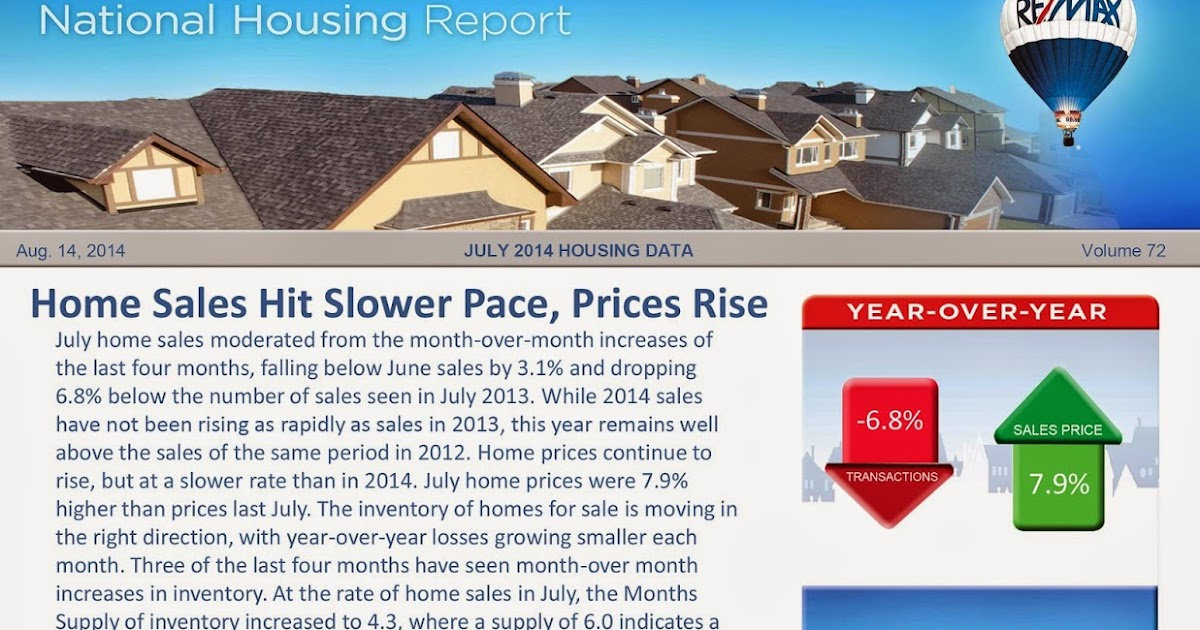 Re Max Metro Utah National Housing Report For July 2014