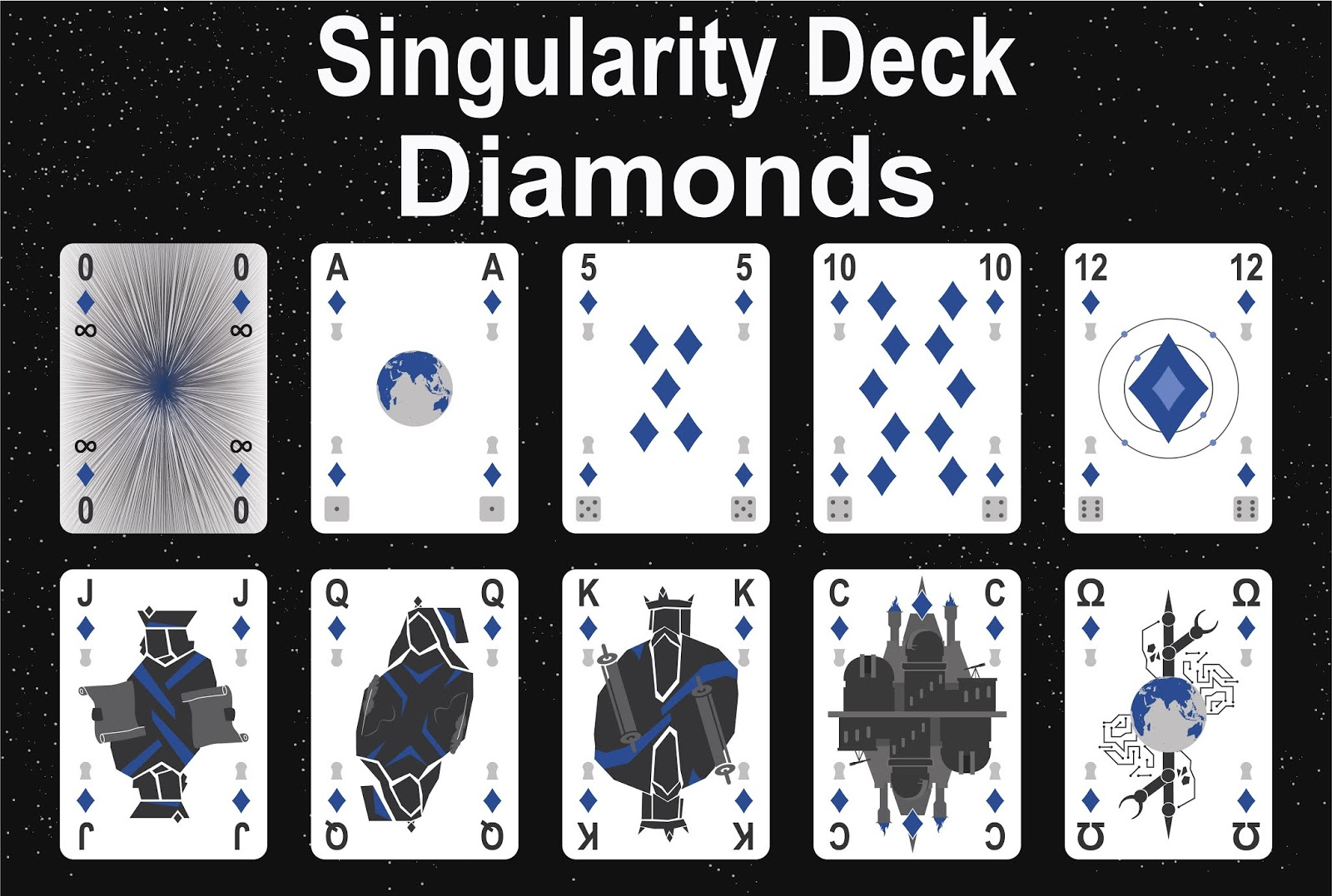 The Singularity Deck - Diamonds Art
