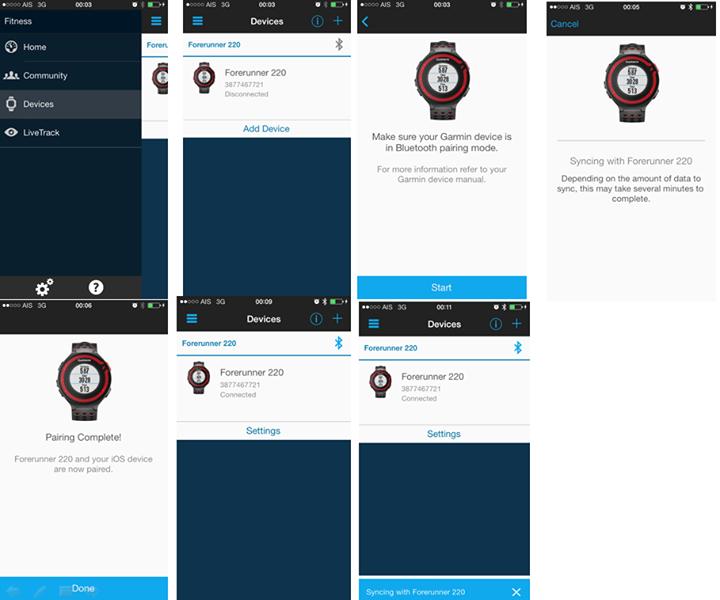 upload activity ขึ้นเว็บ garmin connect ผ่าน iPhone