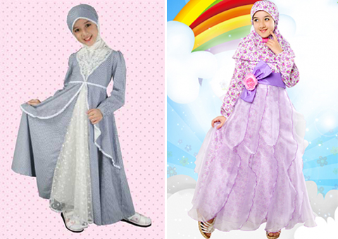 fashion show busana muslim anak perempuan