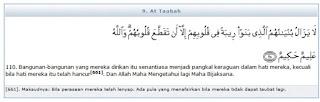 Ilmu 31 Surat AtTaubah ayat 110 serta tafsir depag RI