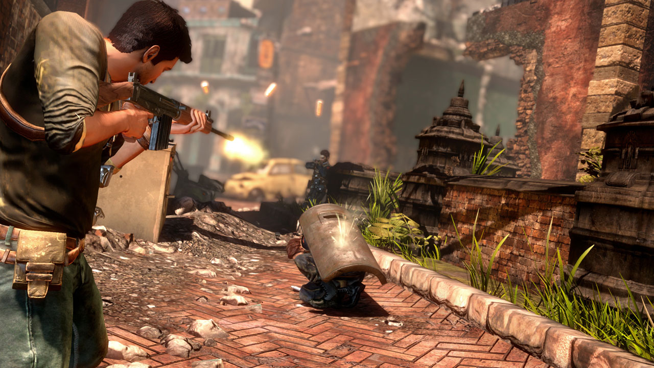 uncharted 4 how to drive and shot