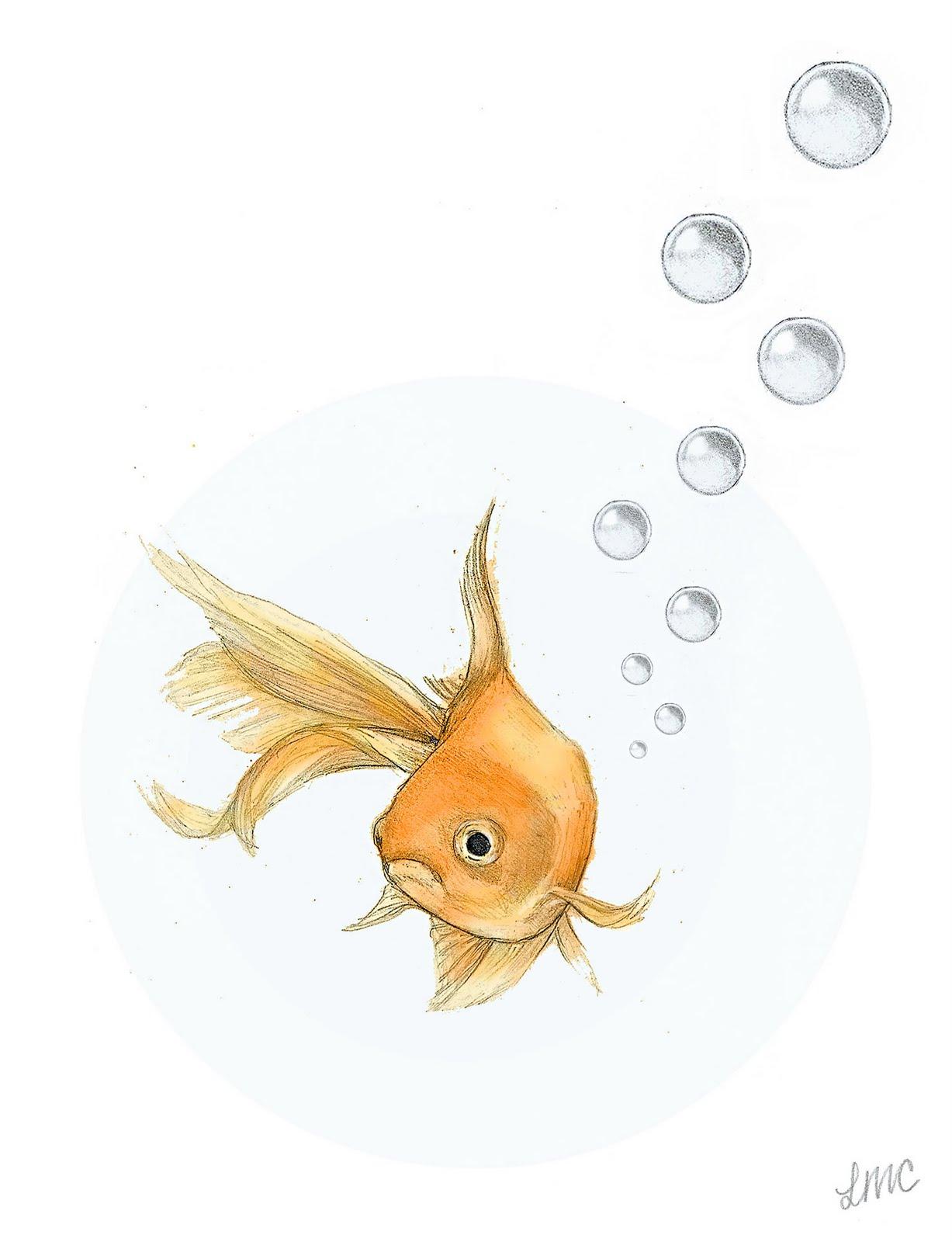 Goldfish line drawing - photo#14