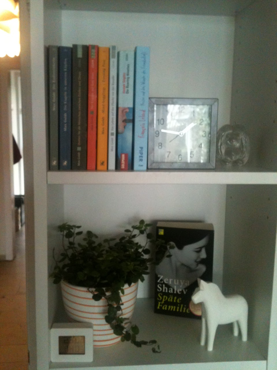 add a plant and display a book cover you love
