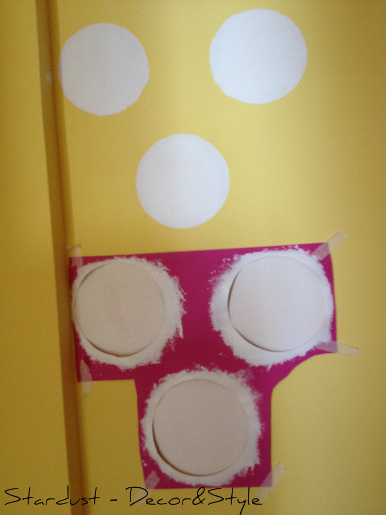 girl 39 s bedroom reveal and how to paint polka dots on a