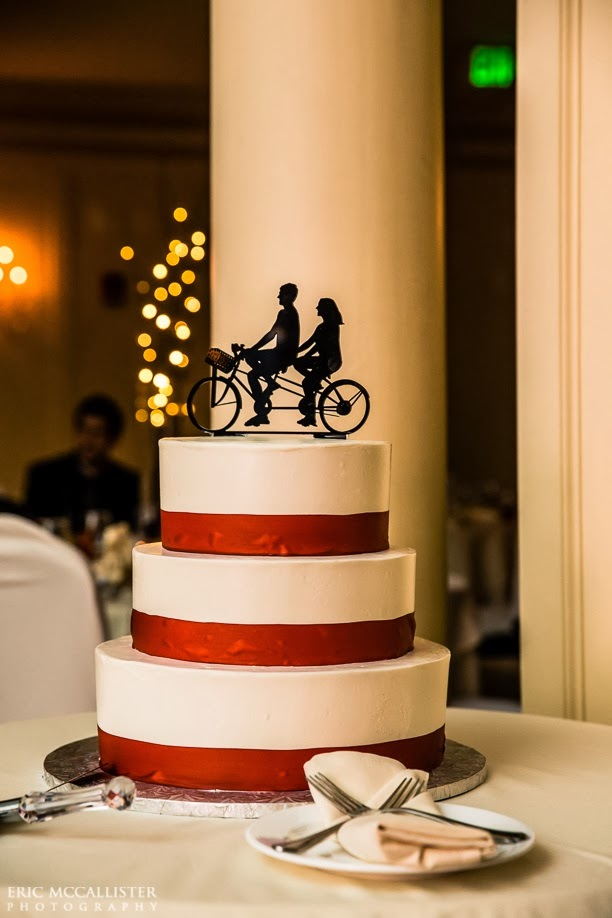 Bicycle cake topper