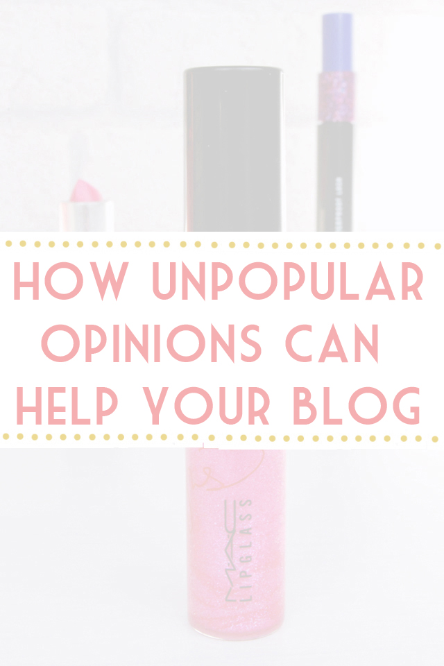 Sharing controversial opinions on a blog