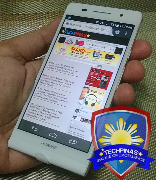 Huawei Ascend P6, TechPinas Badge of Excellence