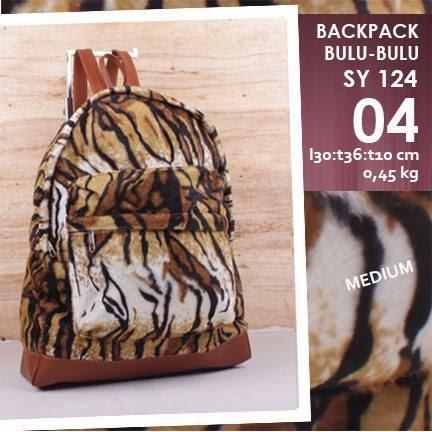 jual online Tas Backpack Mini Murah Corak harimau