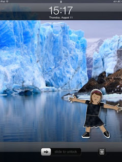 flat stanley cut out w/glaciers