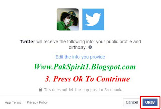 twitter connect to facebook, facebook , tweets on facebook , sync twitter with facebook , pak spirit , urdu tutorial , with pictures.. tutorial no 4