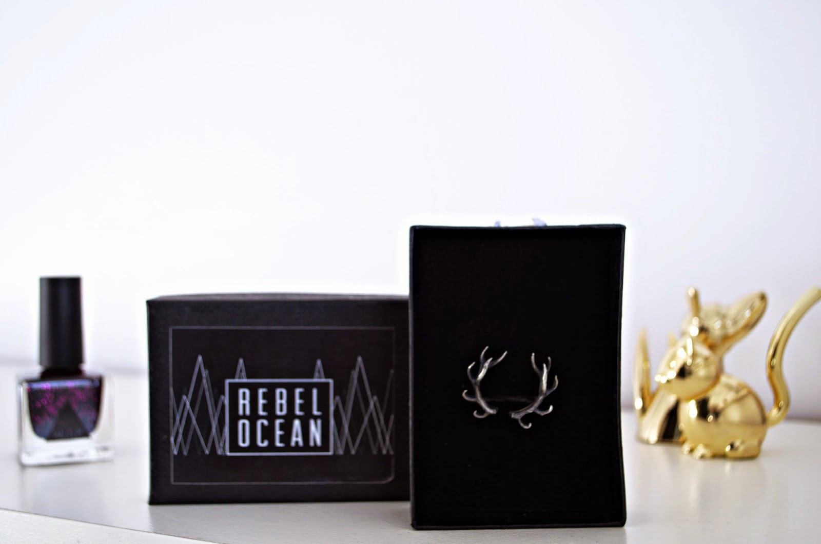 Urban Outfitters Nail Varnish. Ring Holders. Rebel Ocean Antler Ring
