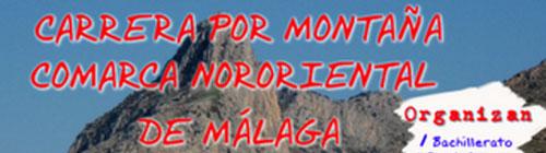 Carrera por montaña comarca Nororiental Malaga