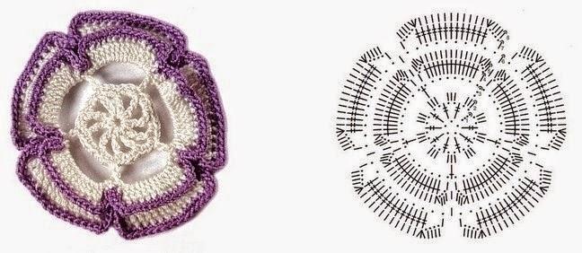 Colección de patrones de flores tejidas con ganchillo