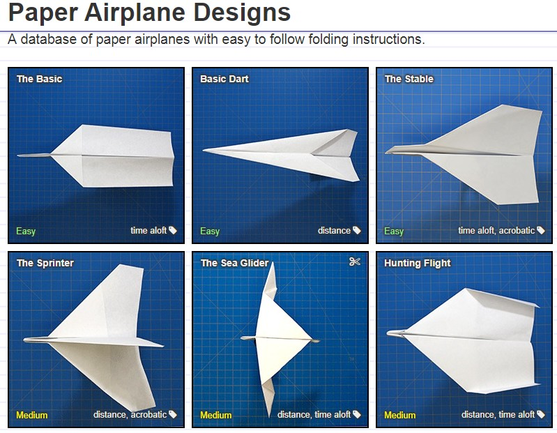Design your own paper plane