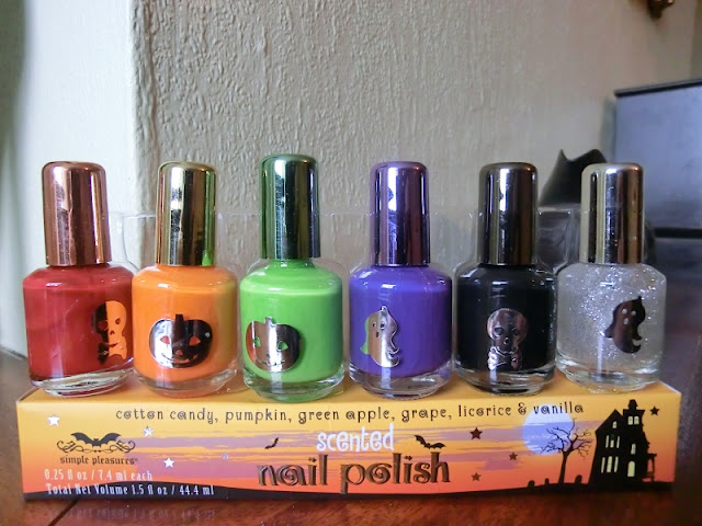 Simple Pleasures Halloween scented Nail Polish Collection