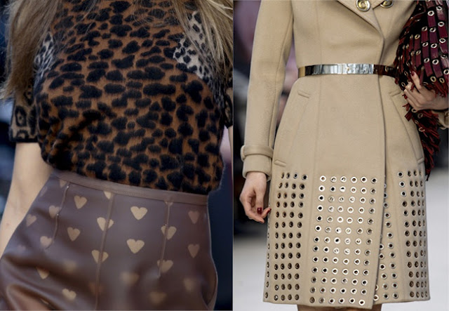 burberry prorsum fall 2013, eyelets,leather
