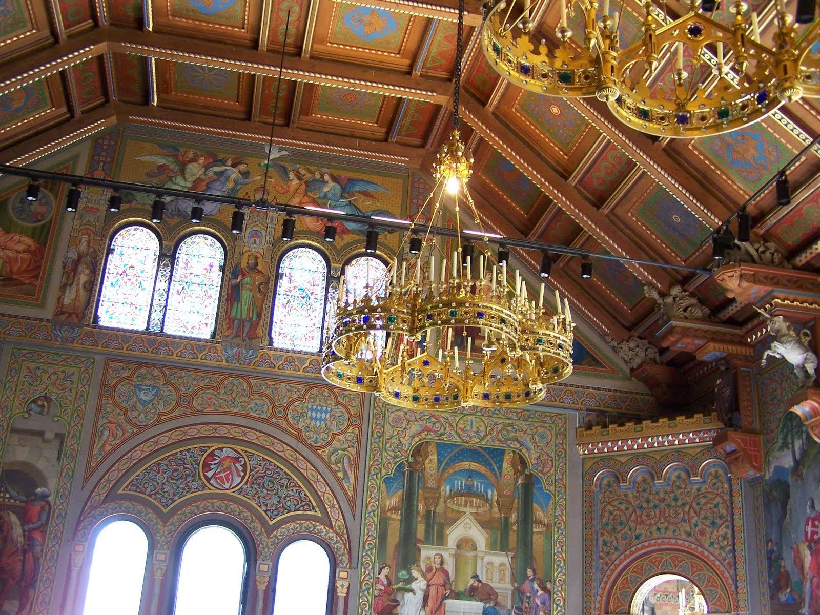 Neuschwanstein castle sngersaal singers hall sngersaal singers hall chandelier arubaitofo Image collections