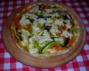 Pie with Pepper, Zucchini, Aubergine and Carrots