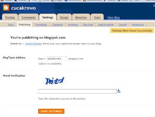 mengganti url blogspot