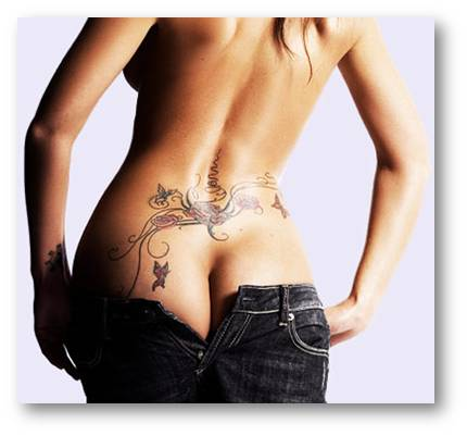 Lower Back Tribal Tattoos