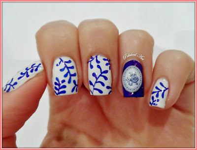 KKCenterHk-Bluesea-Blue-Flower-nail-art-decoration-Barry-M-Sharpie