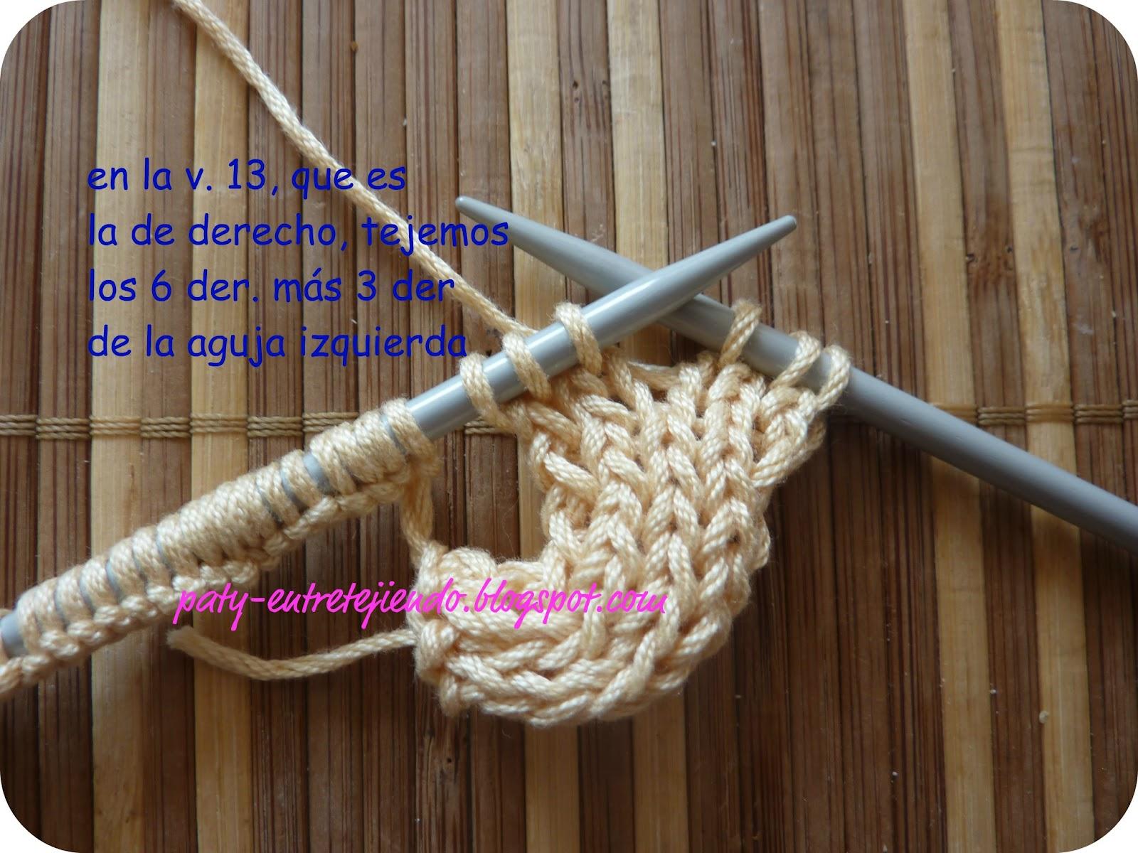 Вязание спицами азиатского колоска