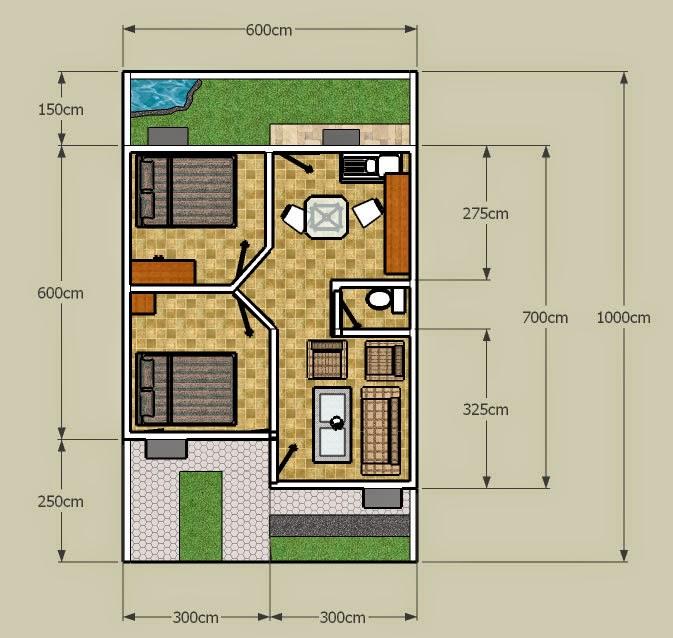desain rumah minimalis 2 lantai luas tanah 60m2 model