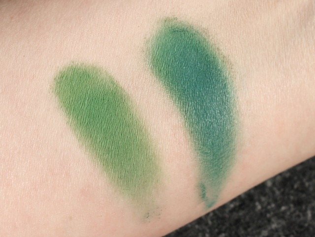 Notoriously Morbid Douglas Firs indie eyeshadow swatches