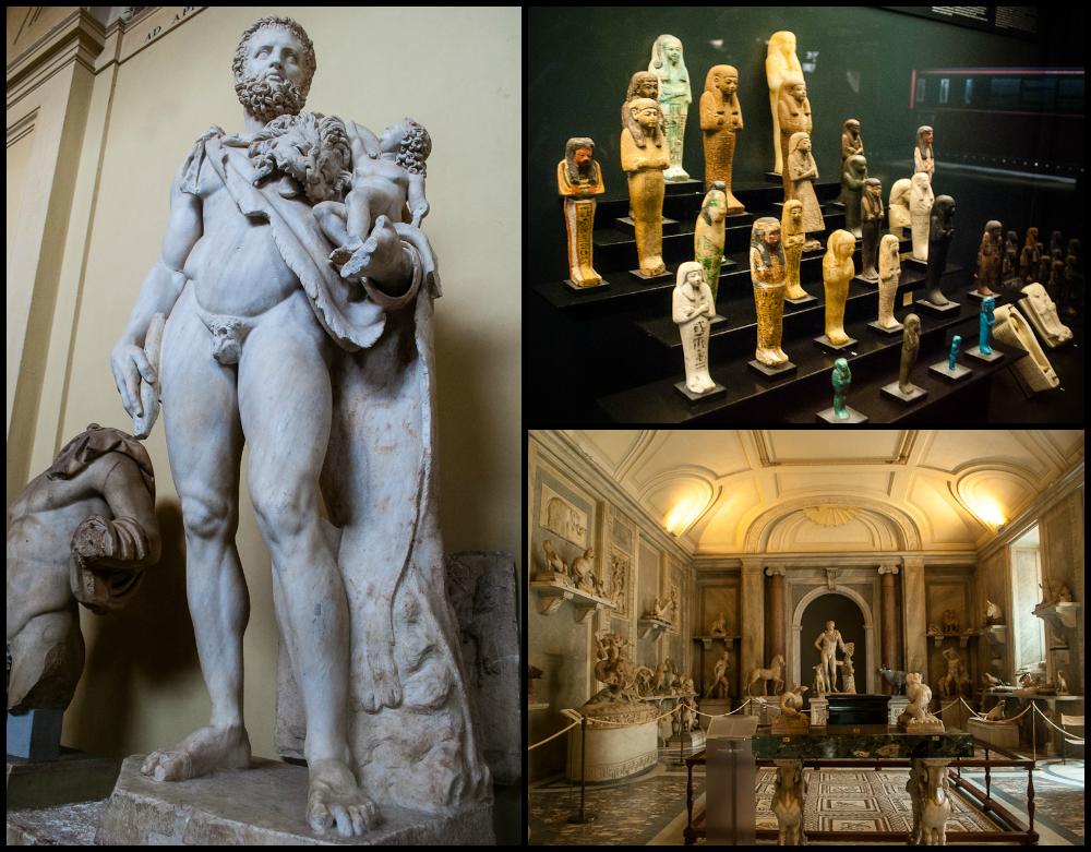 sculptures in the vatican museum