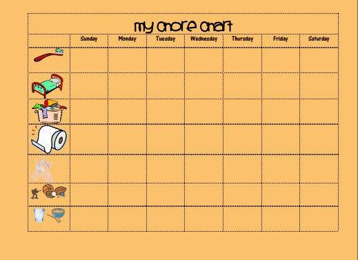 Toddler Chore Chart Printable