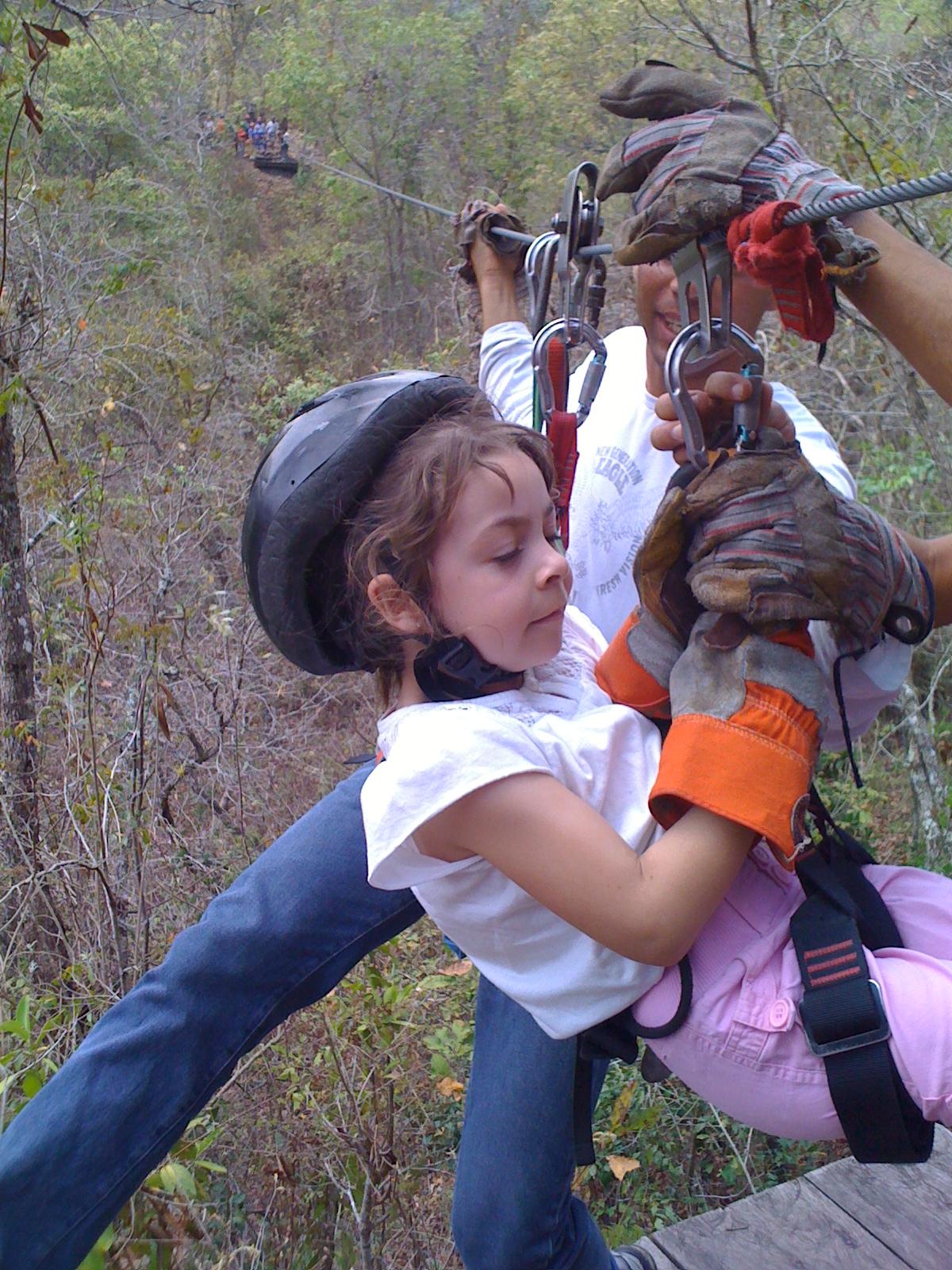 ziplining Copan, Honduras
