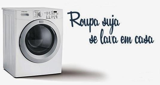 roupa suja se lava em casa
