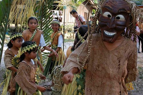 Mah Meri原住民的面具舞蹈