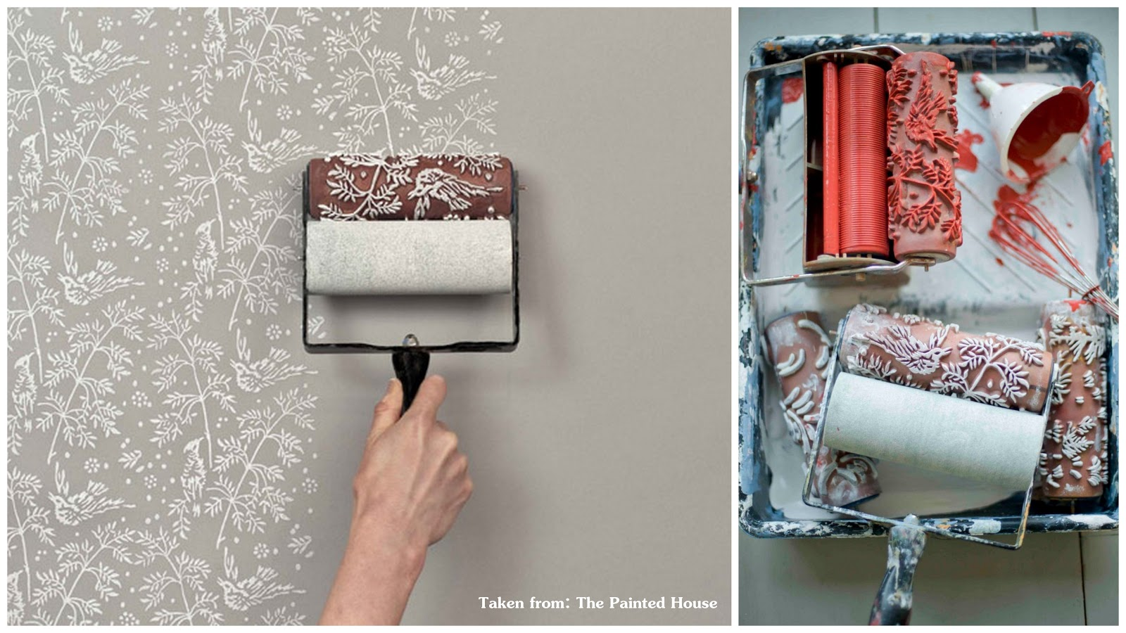 found these patterned paint roller from the painted house the. Black Bedroom Furniture Sets. Home Design Ideas
