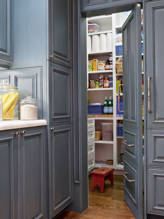 Kitchen pantry design ideas home appliance for Hidden kitchen storage ideas