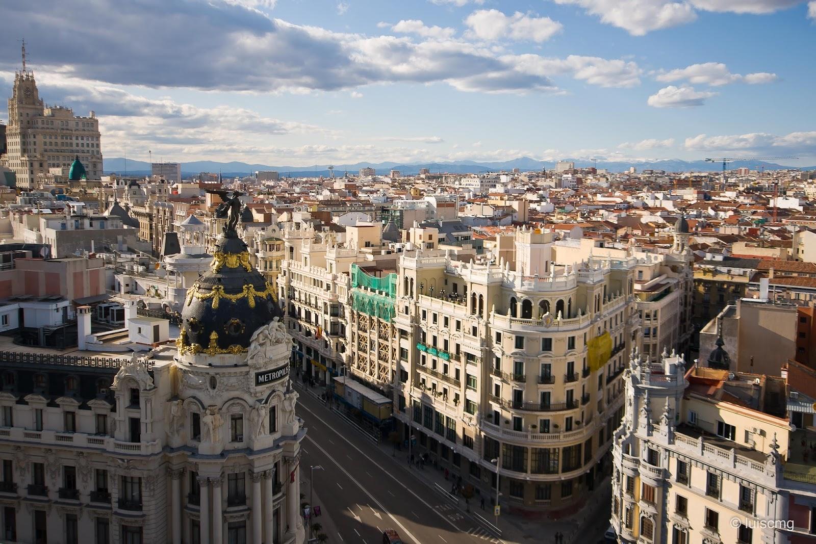 Vista de las azoteas de Madrid