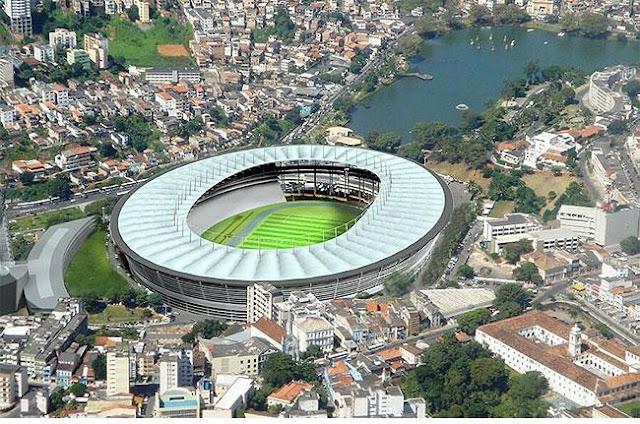 Arena Fonte Nova, em Salvador, Bahia.