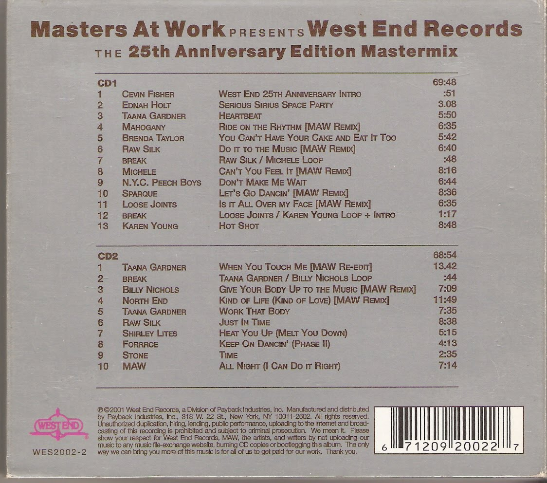End Records Label Label:west End Records