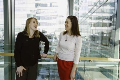 Photo of Tracy Young-Pearse (left) and Christina Muratore