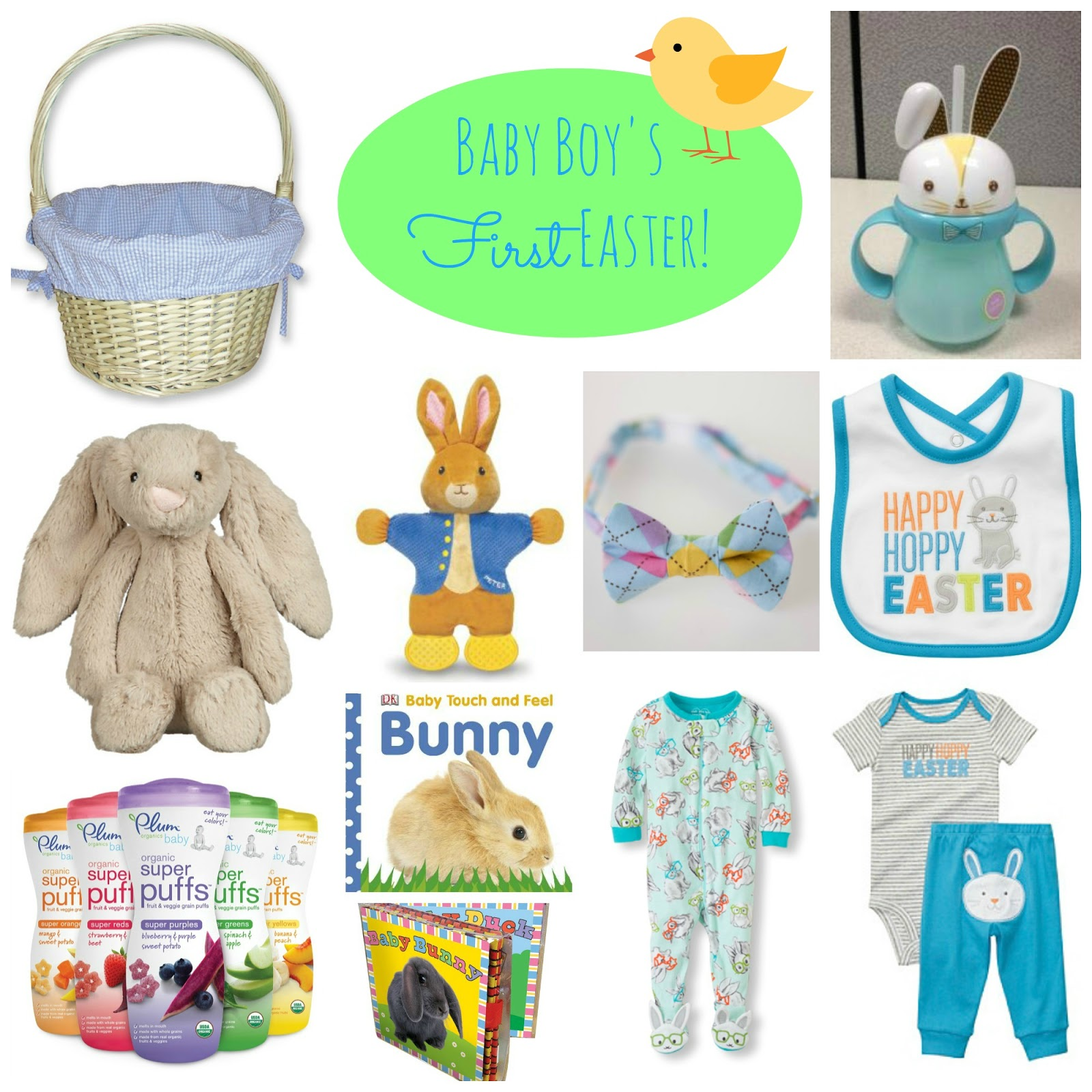 Simple suburbia babys first easter basket ideas it took me a while to decide what to put in there so i decided to share some ideas for boys and girls negle Choice Image