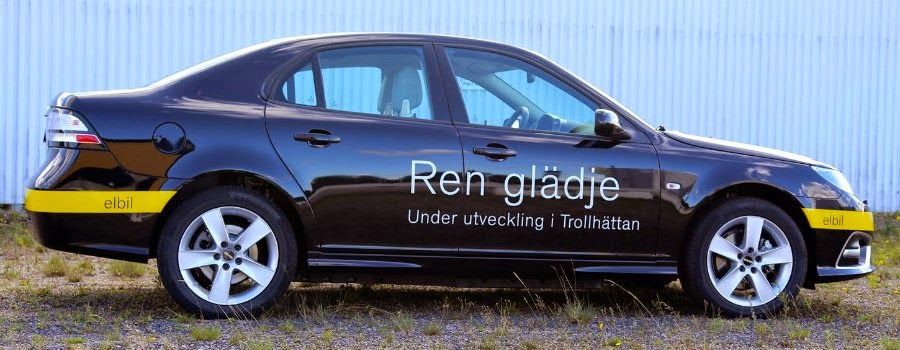 Saab 9-3 Electric Vehicle Prototype (2014) Side