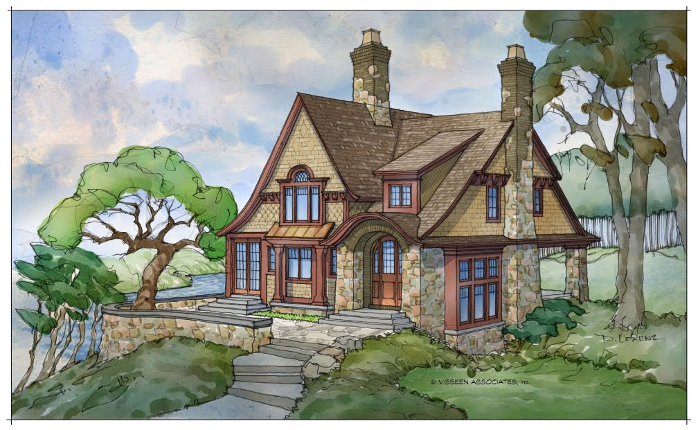 Architectural tutorial storybook homes for Storybook cottage plans