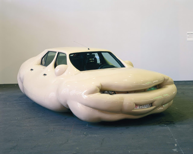 fat car, obese cars, car, weird car, erwin wurm, design, art, weird, cool, crazy, melting
