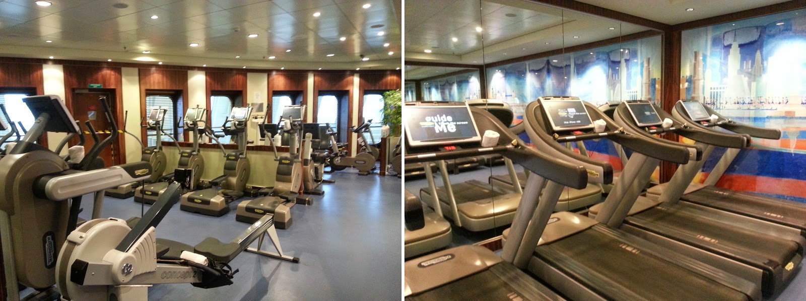 Queen Mary 2 (QM2) - Gym & Fitness Centre