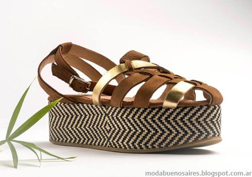 Zapatos Lomm primavera verano 2014. Sandalias y Chatas Moda 2014.