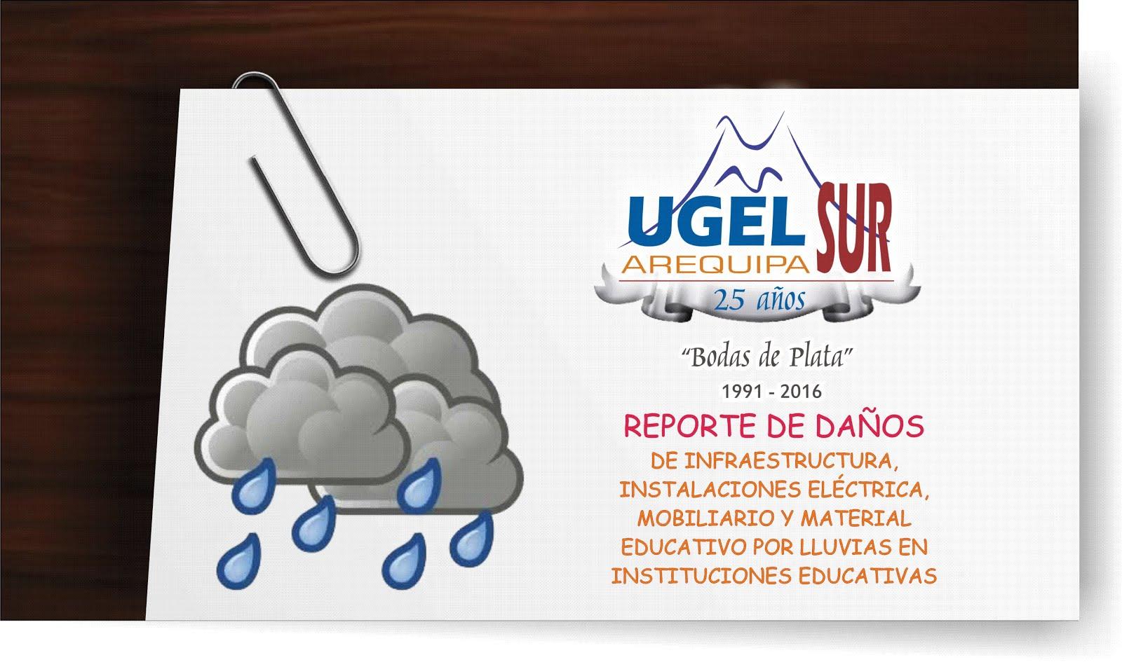 REPORTE DE DAÑOS POR LLUVIAS