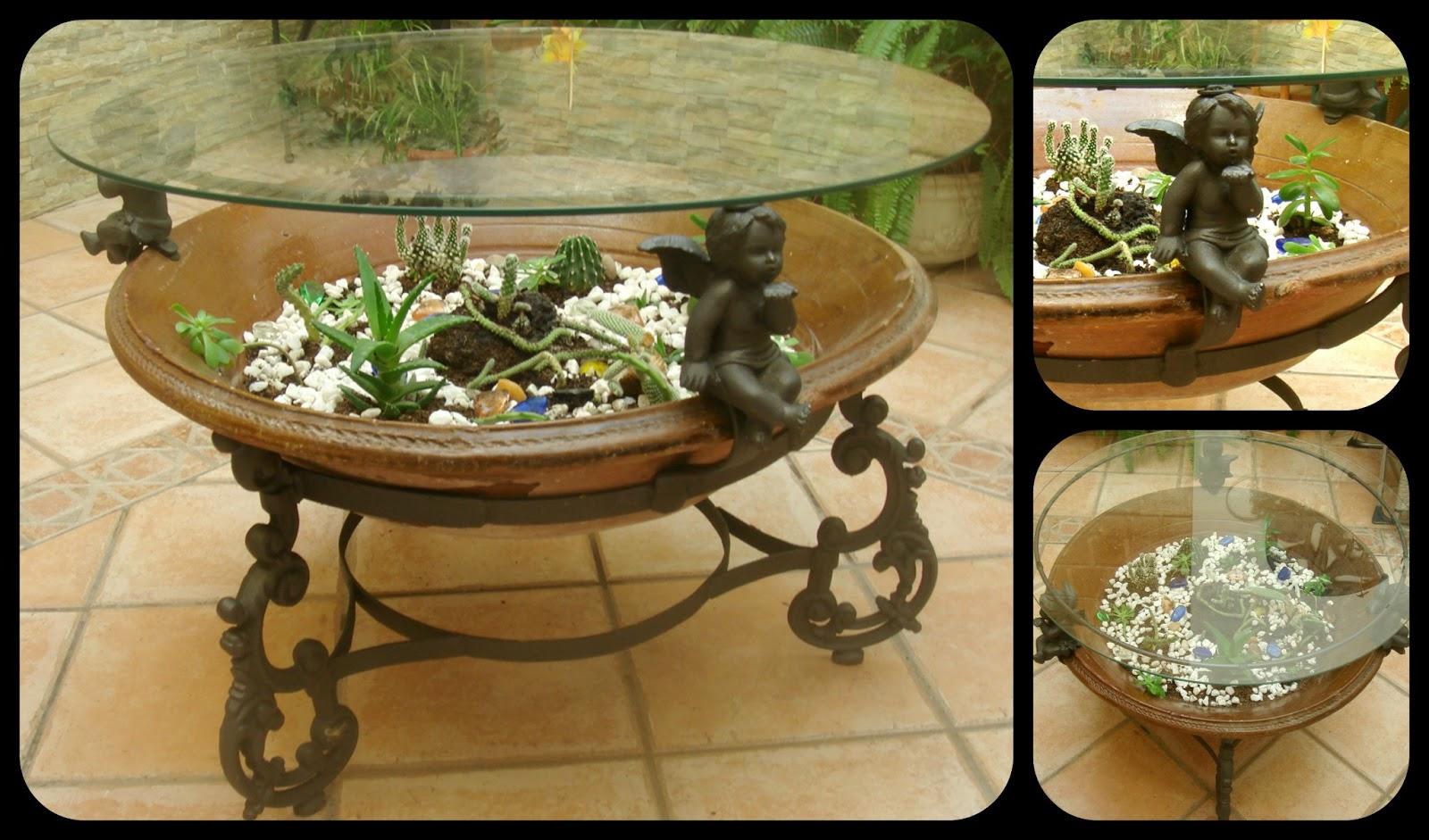 Recicla y decora vanyi creaciones for Mesas para patio